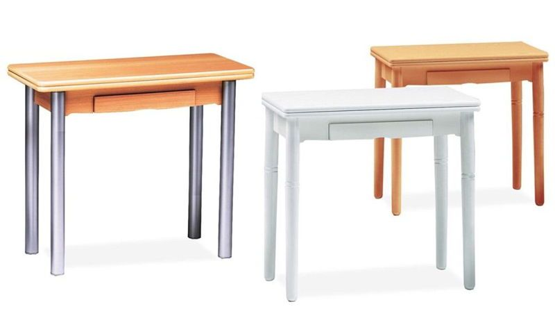 Mesas de cocina mesa cocina extensible con cajon for Mesas para cocina extensibles