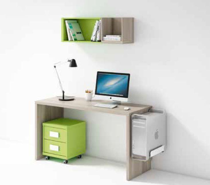 Mesas escritorio mesa escritorio a medida con estanteria for Medidas mesa escritorio